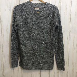 So Brand Gray Round Neck Sweater Med